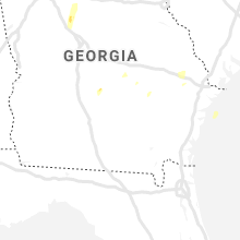 Regional Hail Map for Douglas, GA - Tuesday, April 9, 2019