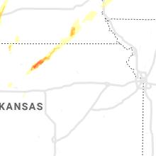 Regional Hail Map for Manhattan, KS - Wednesday, April 10, 2019