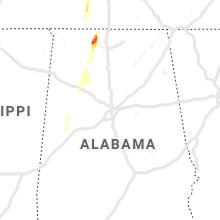 Regional Hail Map for Birmingham, AL - Saturday, April 13, 2019