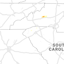 Regional Hail Map for Greenville, SC - Saturday, April 13, 2019