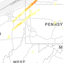 Regional Hail Map for Pittsburgh, PA - Sunday, April 14, 2019