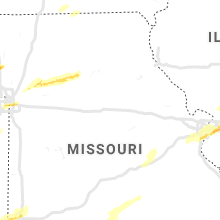 Regional Hail Map for Columbia, MO - Wednesday, April 17, 2019