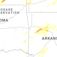 Regional Hail Map for Fort Smith, AR - Wednesday, April 17, 2019