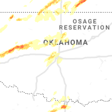 Regional Hail Map for Oklahoma City, OK - Wednesday, April 17, 2019