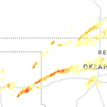 Hail Map for woodward-ok 2019-04-17