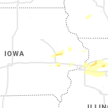 Regional Hail Map for Cedar Rapids, IA - Monday, April 22, 2019