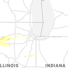 Regional Hail Map for Chicago, IL - Monday, April 22, 2019