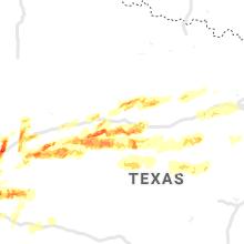 Regional Hail Map for Abilene, TX - Tuesday, April 23, 2019