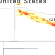 Regional Hail Map for Garden City, KS - Sunday, April 28, 2019