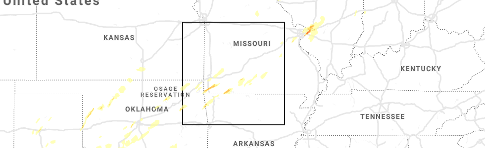 Interactive Hail Maps - Hail Map for Rogers, AR