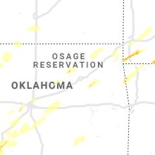Regional Hail Map for Tulsa, OK - Tuesday, April 30, 2019