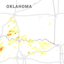 Regional Hail Map for Atoka, OK - Wednesday, May 1, 2019