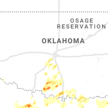 Regional Hail Map for Oklahoma City, OK - Wednesday, May 1, 2019
