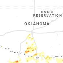 Regional Hail Map for Oklahoma City, OK - Wednesday, May 1, 2019
