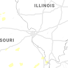 Regional Hail Map for Saint Louis, MO - Wednesday, May 1, 2019