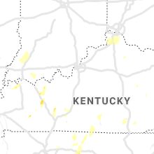 Regional Hail Map for Louisville, KY - Thursday, May 2, 2019