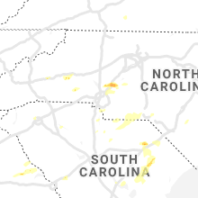 Regional Hail Map for Charlotte, NC - Saturday, May 4, 2019