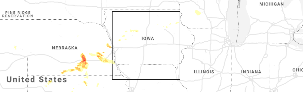 Hail Map for Des Moines, IA - Sunday, May 5, 2019