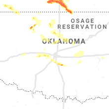 Regional Hail Map for Oklahoma City, OK - Sunday, May 5, 2019