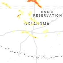 Regional Hail Map for Oklahoma City, OK - Sunday, May 5, 2019