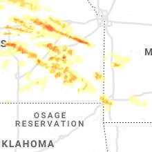 Regional Hail Map for Chanute, KS - Monday, May 6, 2019