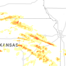 Regional Hail Map for Manhattan, KS - Monday, May 6, 2019