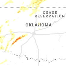 Regional Hail Map for Oklahoma City, OK - Tuesday, May 7, 2019