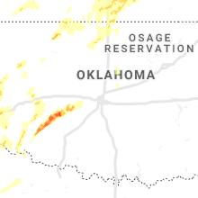 Regional Hail Map for Oklahoma City, OK - Tuesday, May 7, 2019