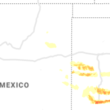 Regional Hail Map for Tucumcari, NM - Wednesday, May 8, 2019