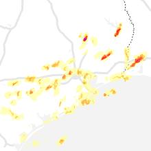 Regional Hail Map for Houston, TX - Thursday, May 9, 2019