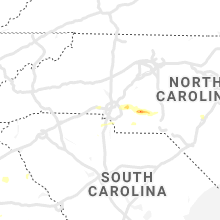 Regional Hail Map for Charlotte, NC - Saturday, May 11, 2019