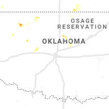 Regional Hail Map for Oklahoma City, OK - Monday, May 13, 2019