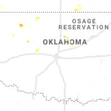 Regional Hail Map for Oklahoma City, OK - Monday, May 13, 2019