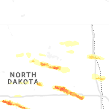 Hail Map for devils-lake-nd 2019-05-15