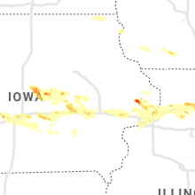 Regional Hail Map for Cedar Rapids, IA - Thursday, May 16, 2019