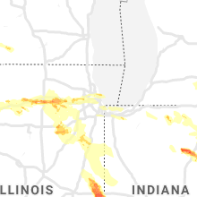 Regional Hail Map for Chicago, IL - Thursday, May 16, 2019