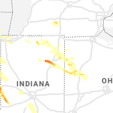 Regional Hail Map for Fort Wayne, IN - Thursday, May 16, 2019