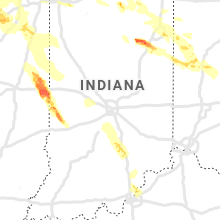 Regional Hail Map for Indianapolis, IN - Thursday, May 16, 2019