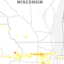 Regional Hail Map for Madison, WI - Thursday, May 16, 2019