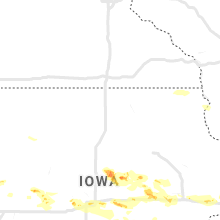 Regional Hail Map for Mason City, IA - Thursday, May 16, 2019