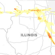 Regional Hail Map for Peoria, IL - Thursday, May 16, 2019