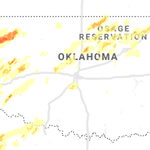 Regional Hail Map for Oklahoma City, OK - Monday, May 20, 2019