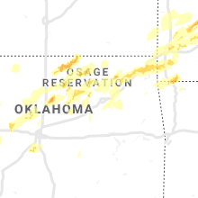 Regional Hail Map for Tulsa, OK - Monday, May 20, 2019