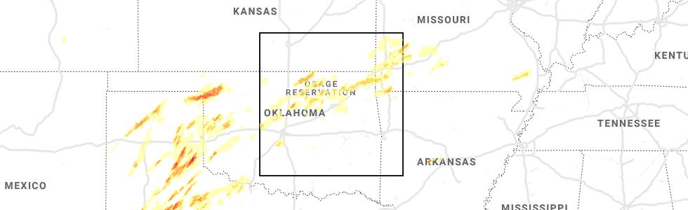 Interactive Hail Maps - Hail Map for Broken Arrow, OK