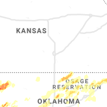 Regional Hail Map for Wichita, KS - Monday, May 20, 2019