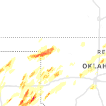 Regional Hail Map for Woodward, OK - Monday, May 20, 2019