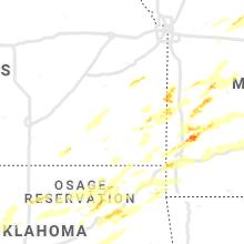 Regional Hail Map for Chanute, KS - Wednesday, May 22, 2019