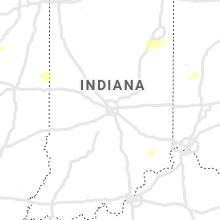 Regional Hail Map for Indianapolis, IN - Wednesday, May 22, 2019