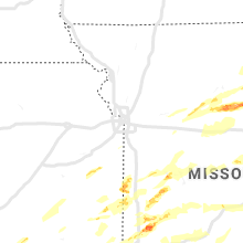 Regional Hail Map for Kansas City, MO - Wednesday, May 22, 2019