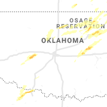 Regional Hail Map for Oklahoma City, OK - Wednesday, May 22, 2019